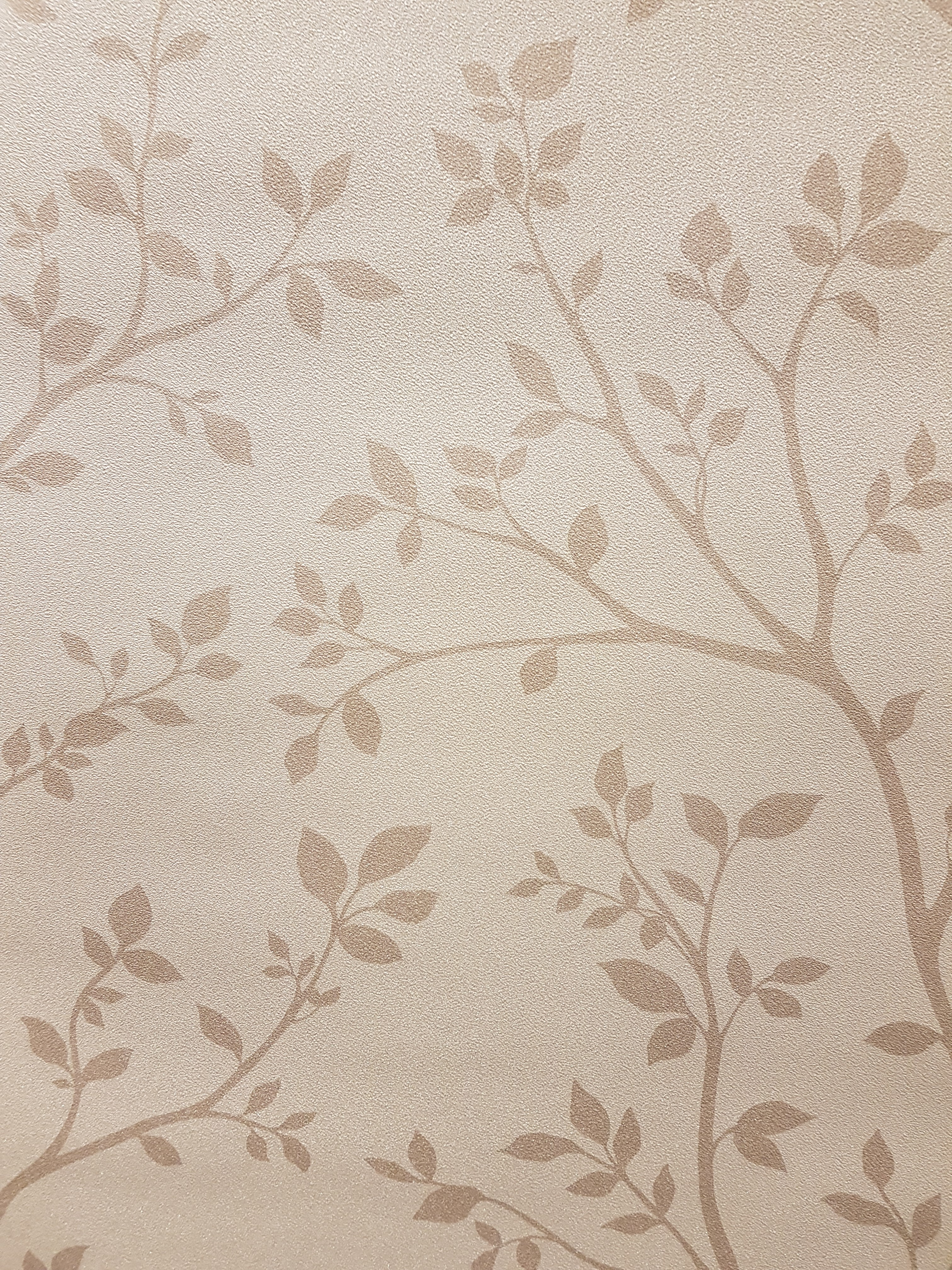 Grandeco Reflect Leaf Trail Vinyl Wallpaper RE2305 Beige