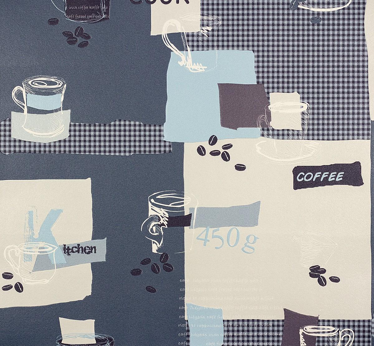 AS Creation Faro Kitchen Wallpaper- 30089-1 - Blue
