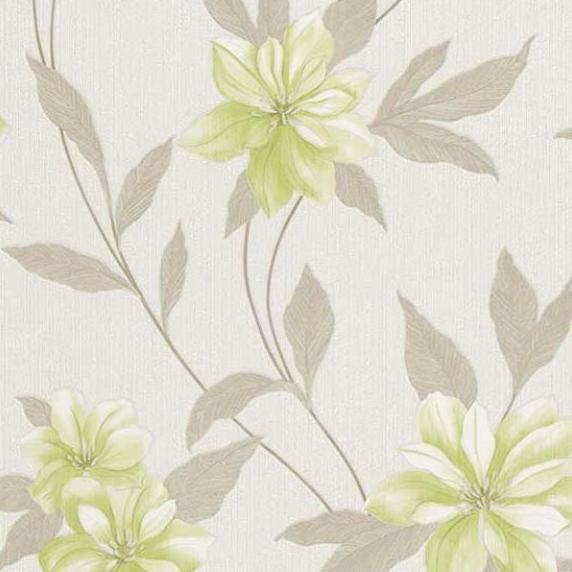 Erismann Spring Floral Wallpaper 9500 02 Lime Green