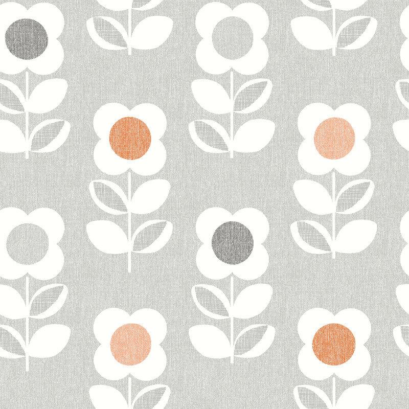 Arthouse Opera Retro Flower Wallpaper 902304 Greyorange