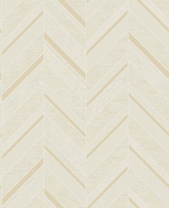 Fine Decor Ceramica Cream Gold Glitter Chevron Wallpaper Fd42417