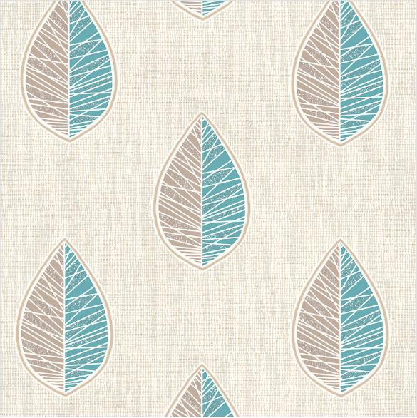 Crown Scandi Leaf Textured Wallpaper M1256 Teal