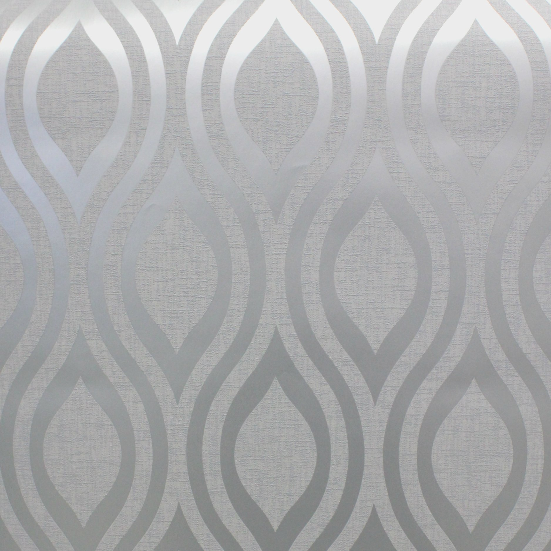 arthouse luxe ogee geometric wallpaper 910204 silver