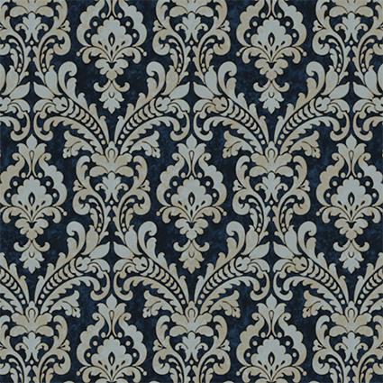 Design Id Verde2 Damask Wallpaper Vd219175 Navy Silver